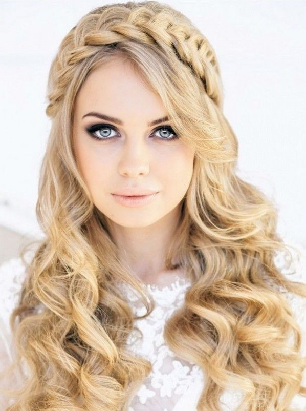 Wedding Hairstyles For Long Hair Half Up Braided Crown Hairstyles Long Hair Styles Crown Hairstyles
