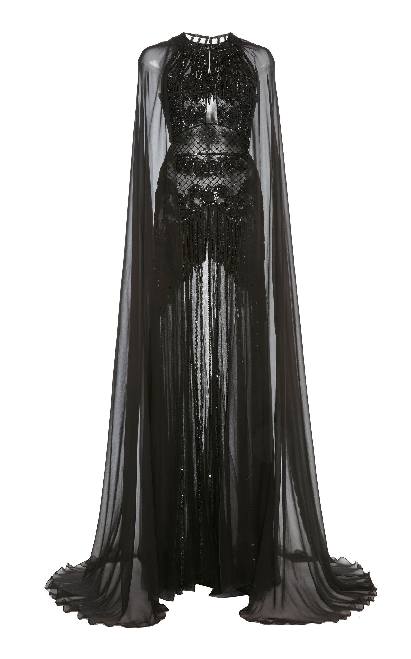 Embellished Cape Sleeve Silk Chiffon Gown By Zuhair Murad Now Available On Moda Operandi Kpop Fashion Outfits Fashion Outfits Fashion [ 2560 x 1598 Pixel ]