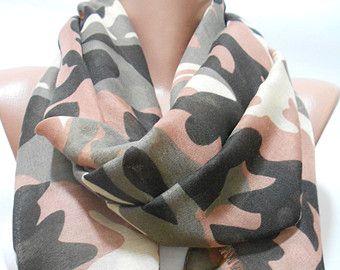 Military Scarf Shawl, Camouflage Pattern Scarf Shawl, Camo ...