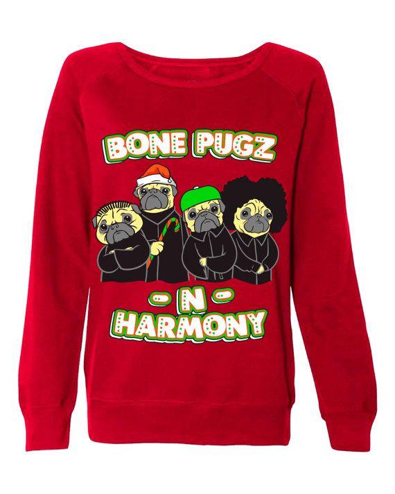 Bone Pugs N Harmony Mens Unisex And Womens Ugly Christmas