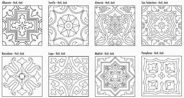 Decorative Tile Patterns Fireclay Tile Cuerda Seca Decorative Tile Line Drawing Graphic