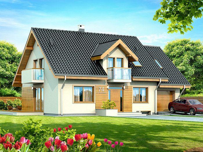 Kolor Okien Szukaj W Google Small House Front Design House Plans Farmhouse Cottage Style Homes
