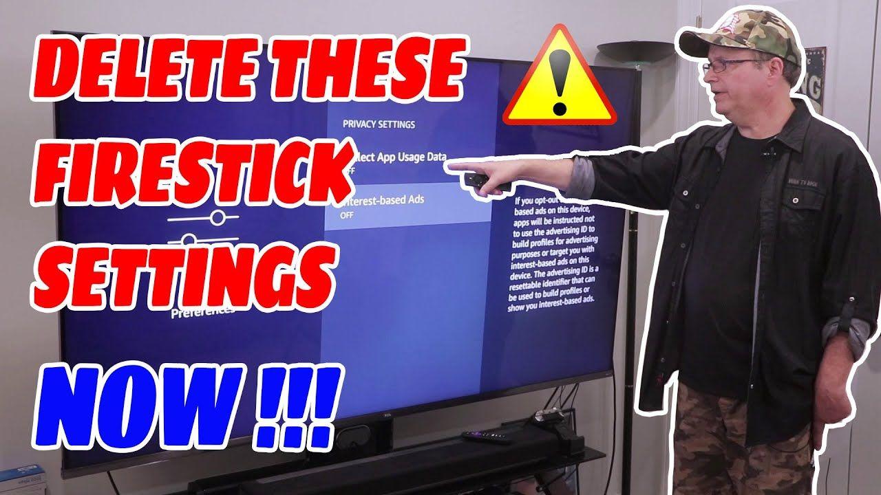 Firestick Settings You Need To Turn Off Immediately Youtube How To Jailbreak Firestick Amazon Fire Tv Stick Fire Tv Stick