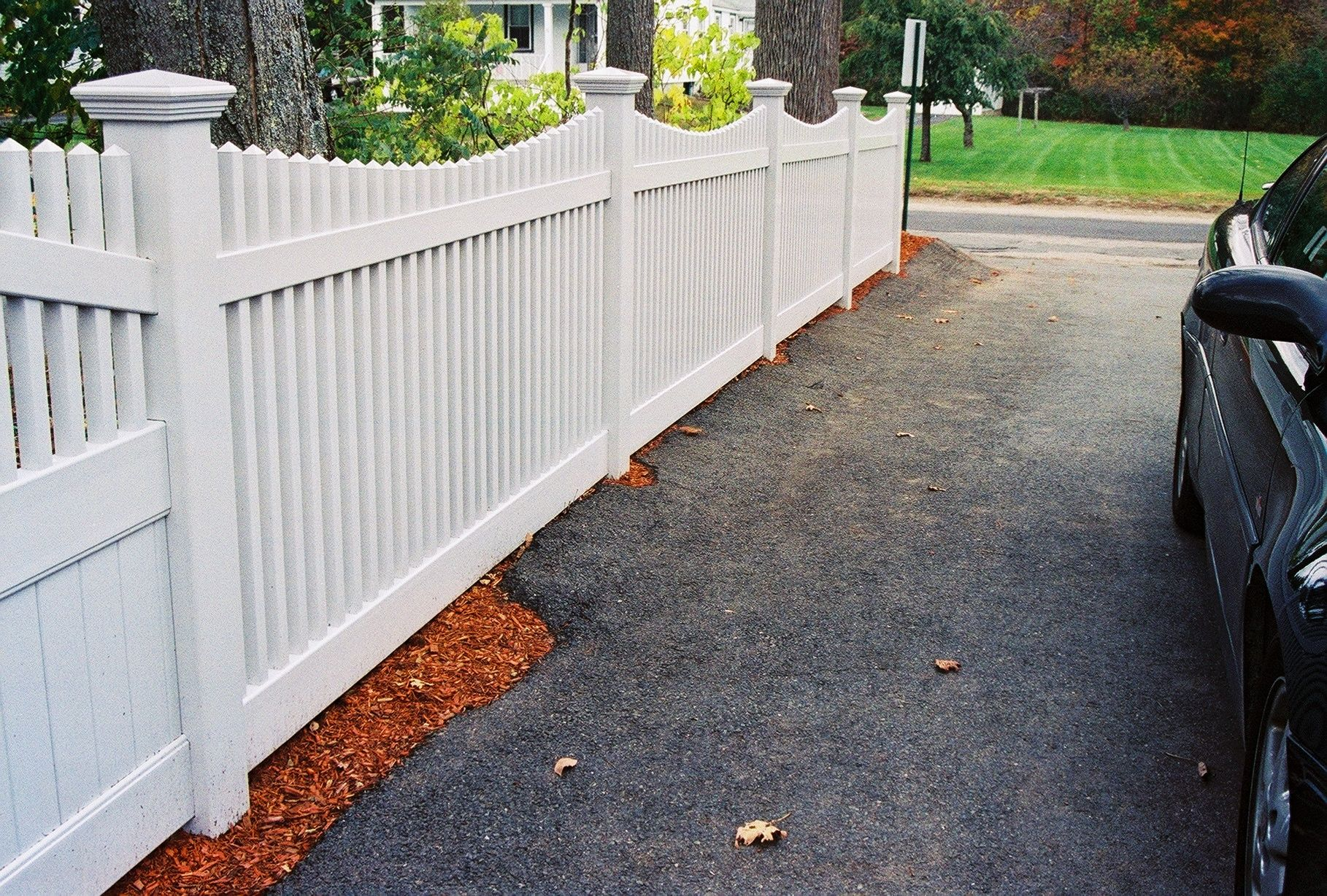 5ft High Scalloped Mt Vernon Spaced Picket Vinyl Fence