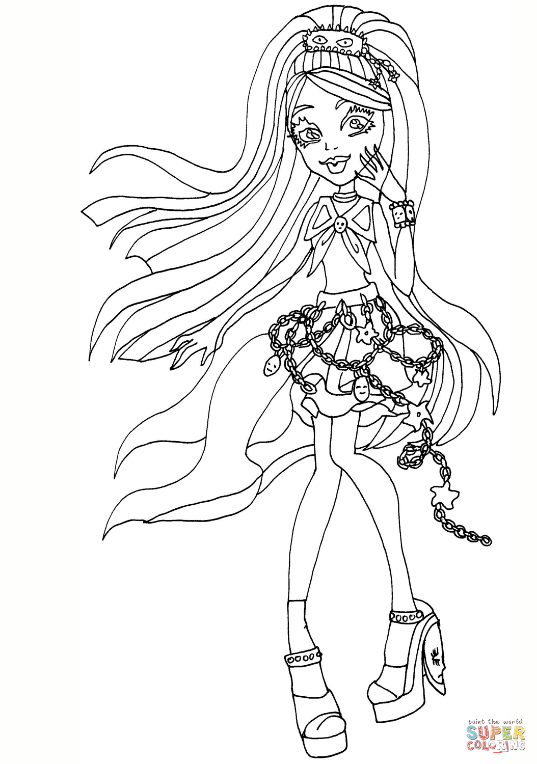Ausmalbilder Von Monster High : Kiyomi Haunterly Coloring Page Png 1054 1500 Monster High