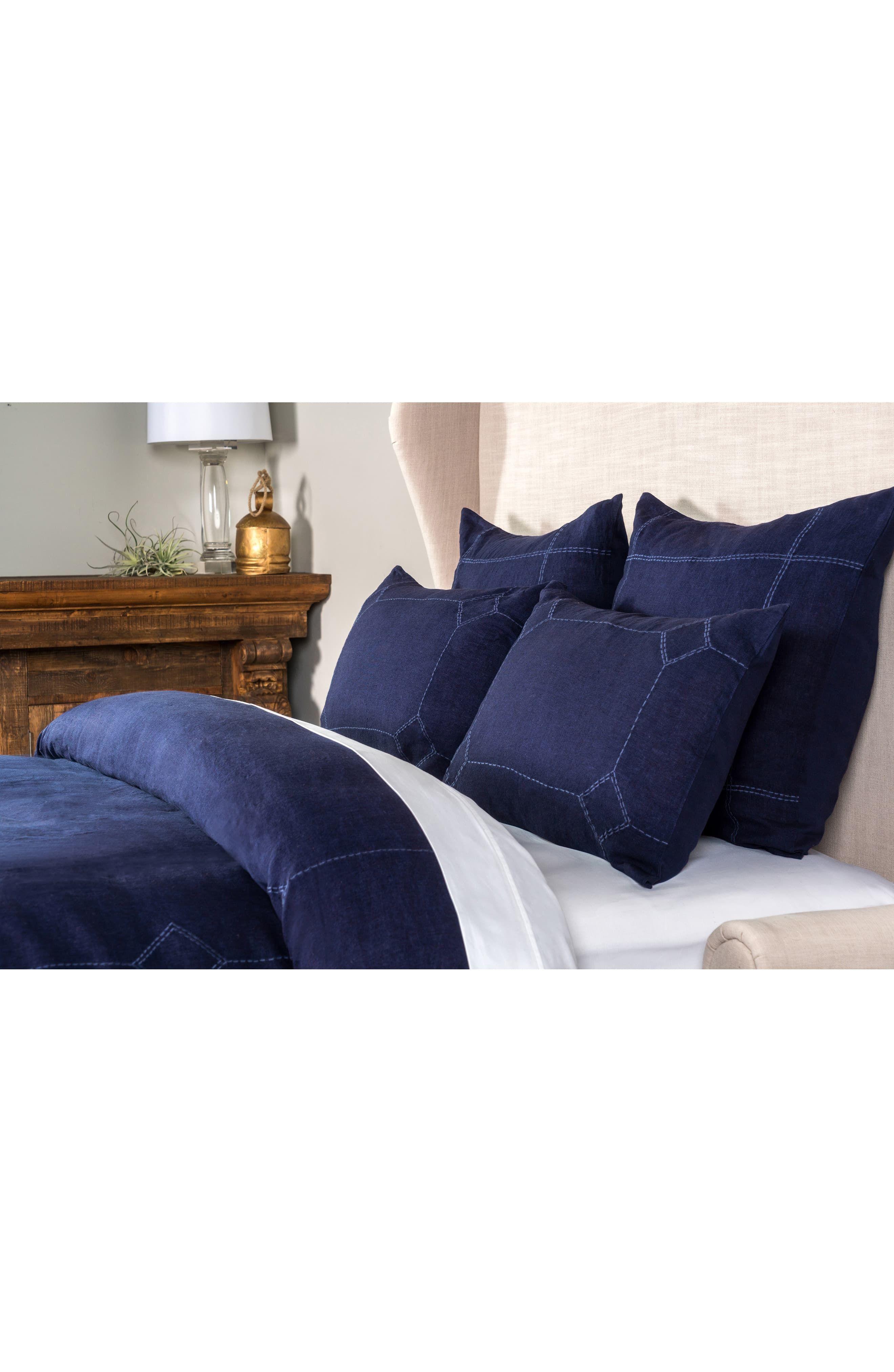 Villa Home Collection Heirloom Linen Duvet Cover Bed