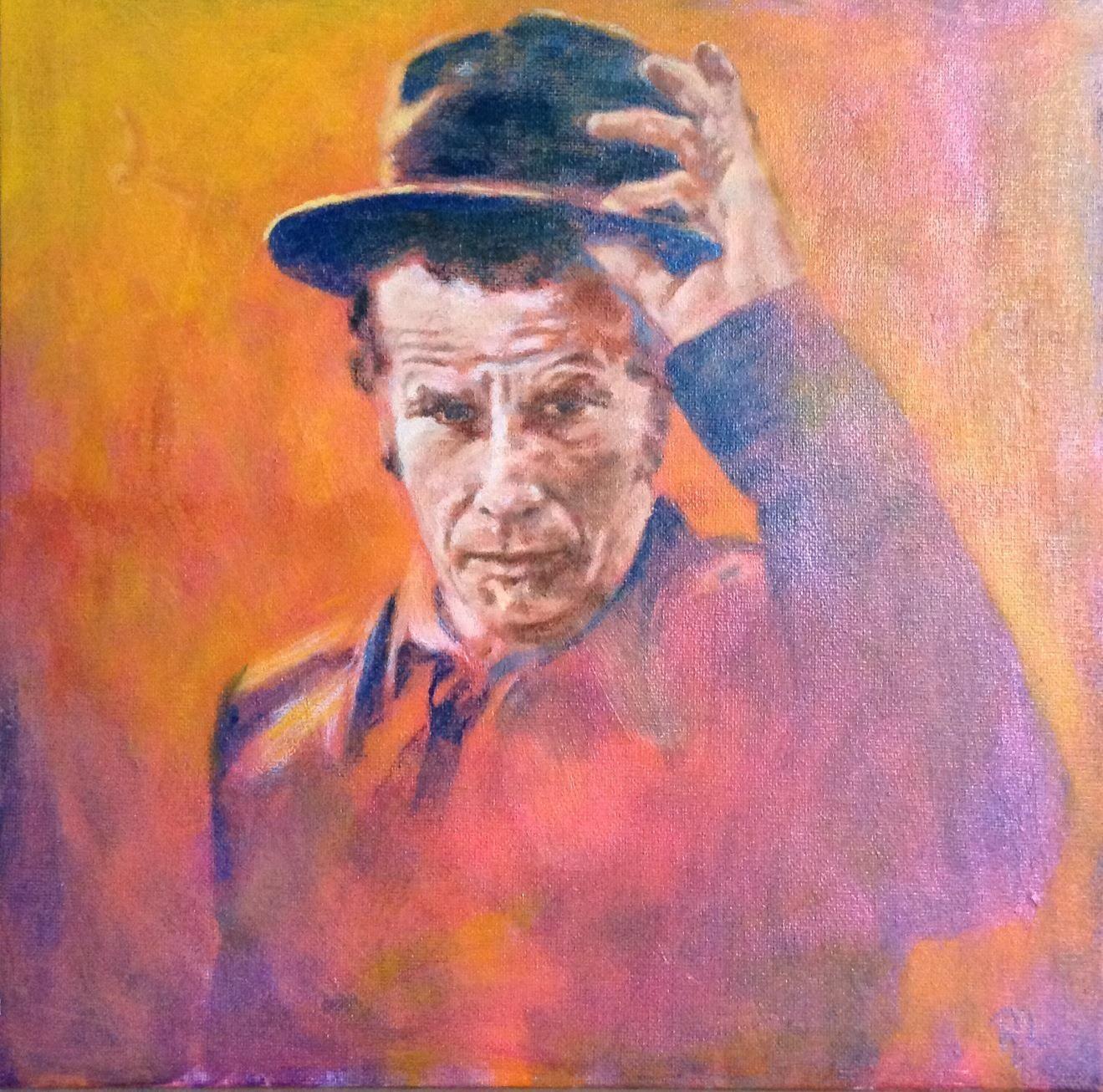 #Tom Waits  #acrylic on canvas #30x30 #rithva