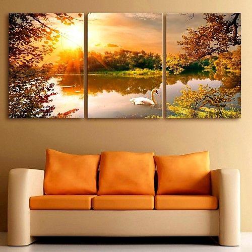 Estampado laminados en lienzo paisaje cl sico - Laminados para paredes ...