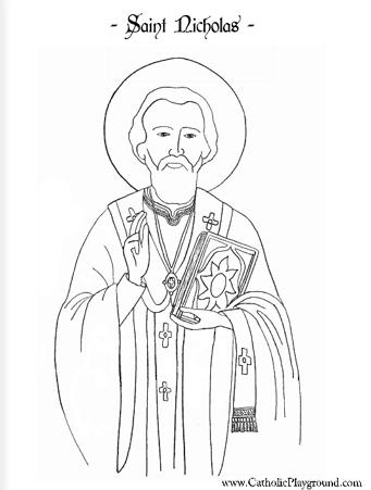 Saint Nicholas coloring page St Nicholas Day Pinterest Saint