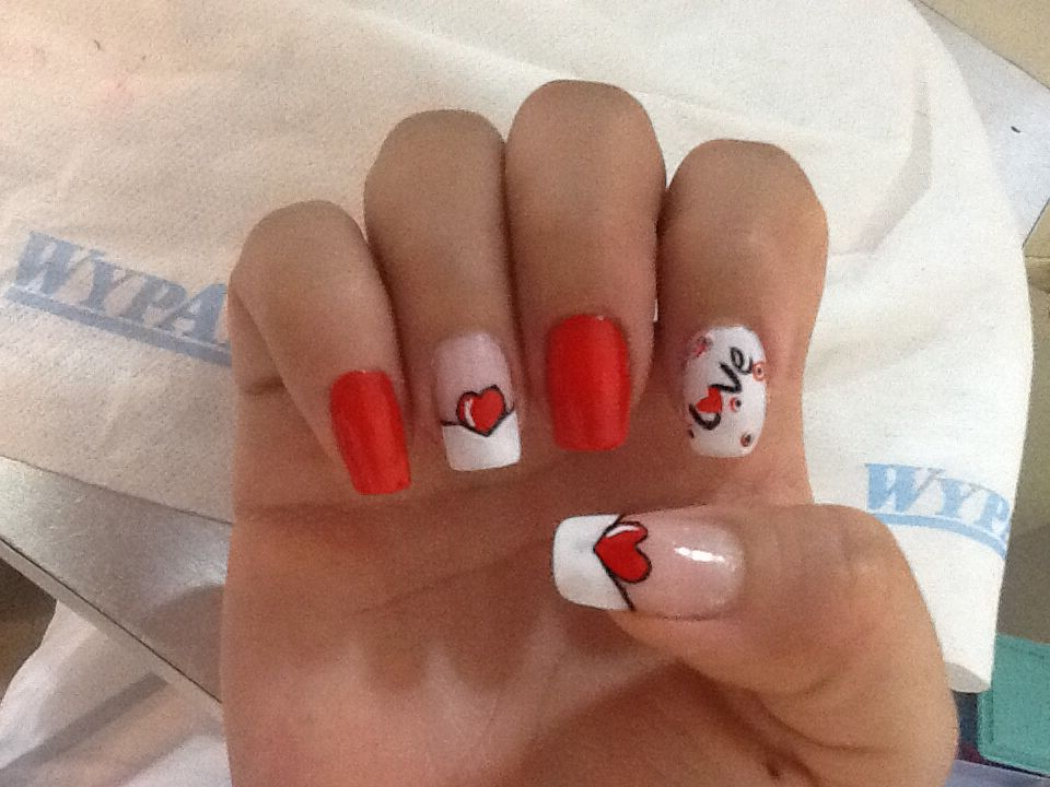 Uñas Decoradas Amor Y Amistad Uñas En 2019 Pinterest Nails