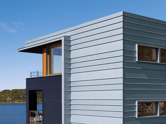 Seam systems | Angled standing seam di RHEINZINK | Facade constructions