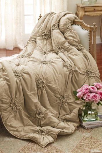 bella smocked coverlet - coverlets, bedding, home decor | soft