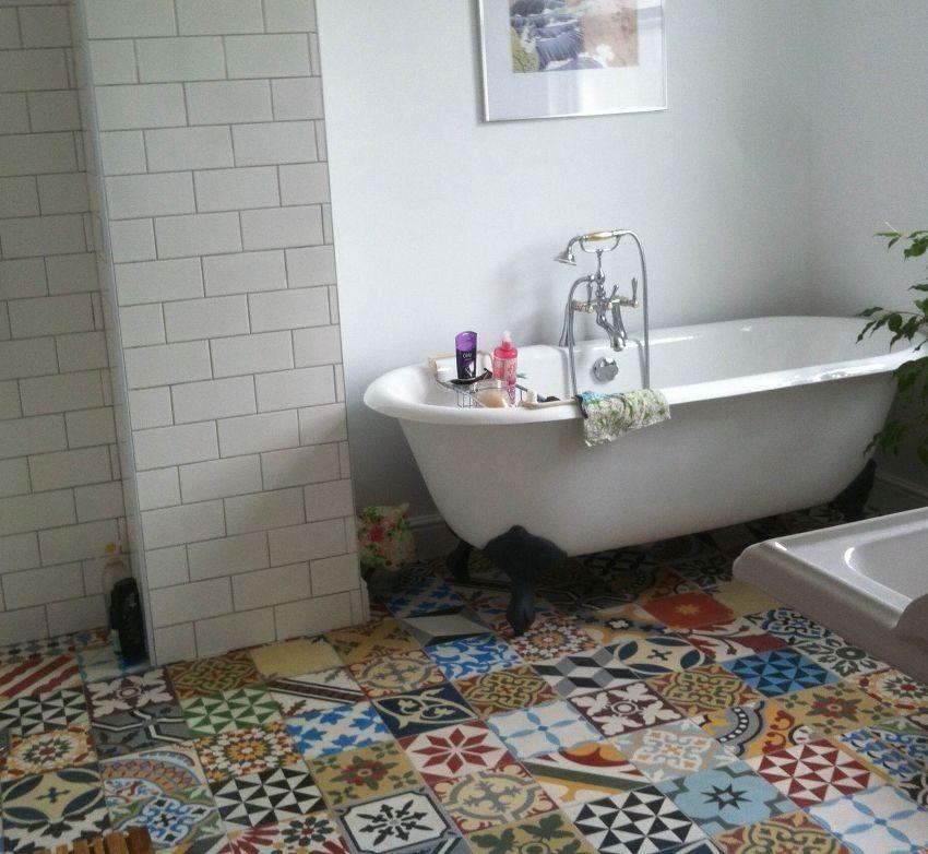 Funky Floor Moroccan Tile Bathroom Patchwork Tiles Bathroom Moroccan Bathroom