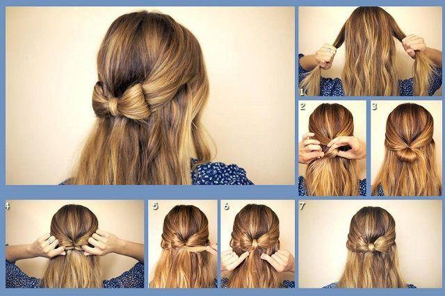 Diy Cute Hair Bow Bow Long Hair How To Diy Hair Hairstyles Hair Tutorials Easy Hairstyles Bow Hairstyle Thick Hair Styles Medium Hair Styles