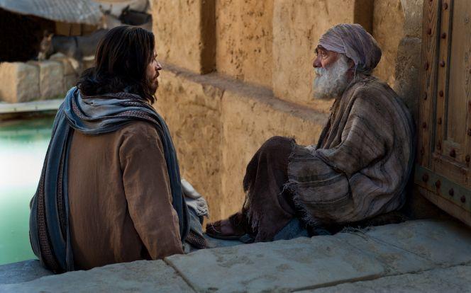 Juan 5:2–12, Cristo habla con un inválido en la escalinata del estanque de Betesda
