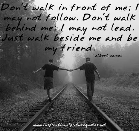 Don T Walk In Front Of Me I May Not Follow Albert Camus Life Thoughts Pretty Words Inspirational Quotes