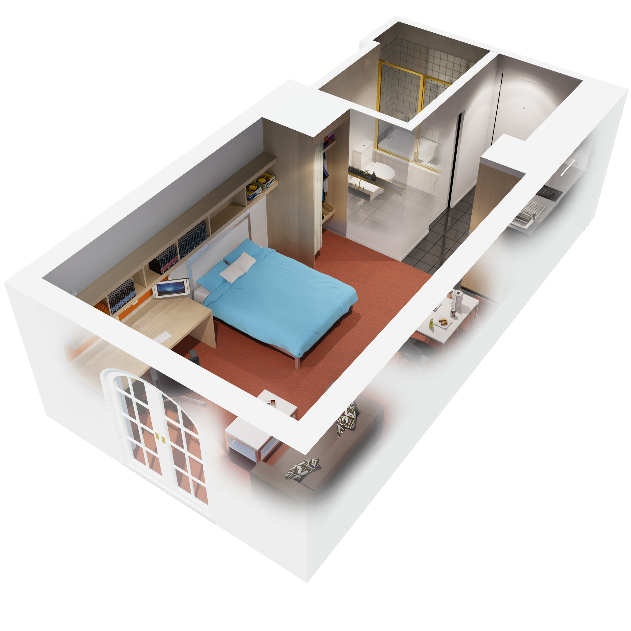 Amazing Apartments Modern One Bedroom Apartment Interior ...