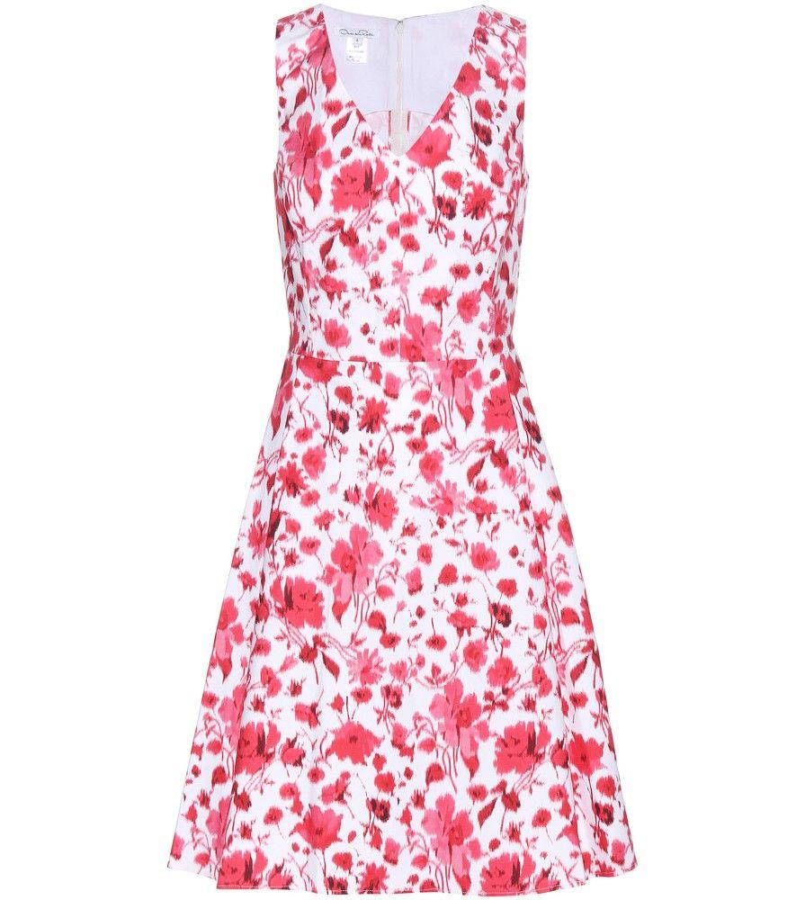 Oscar de la Renta - Bedrucktes Kleid aus Stretch-Baumwolle - Die ...