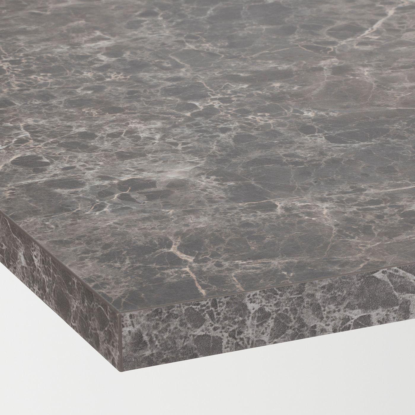 Ekbacken Countertop Dark Gray Marble Effect Laminate 98x11 8