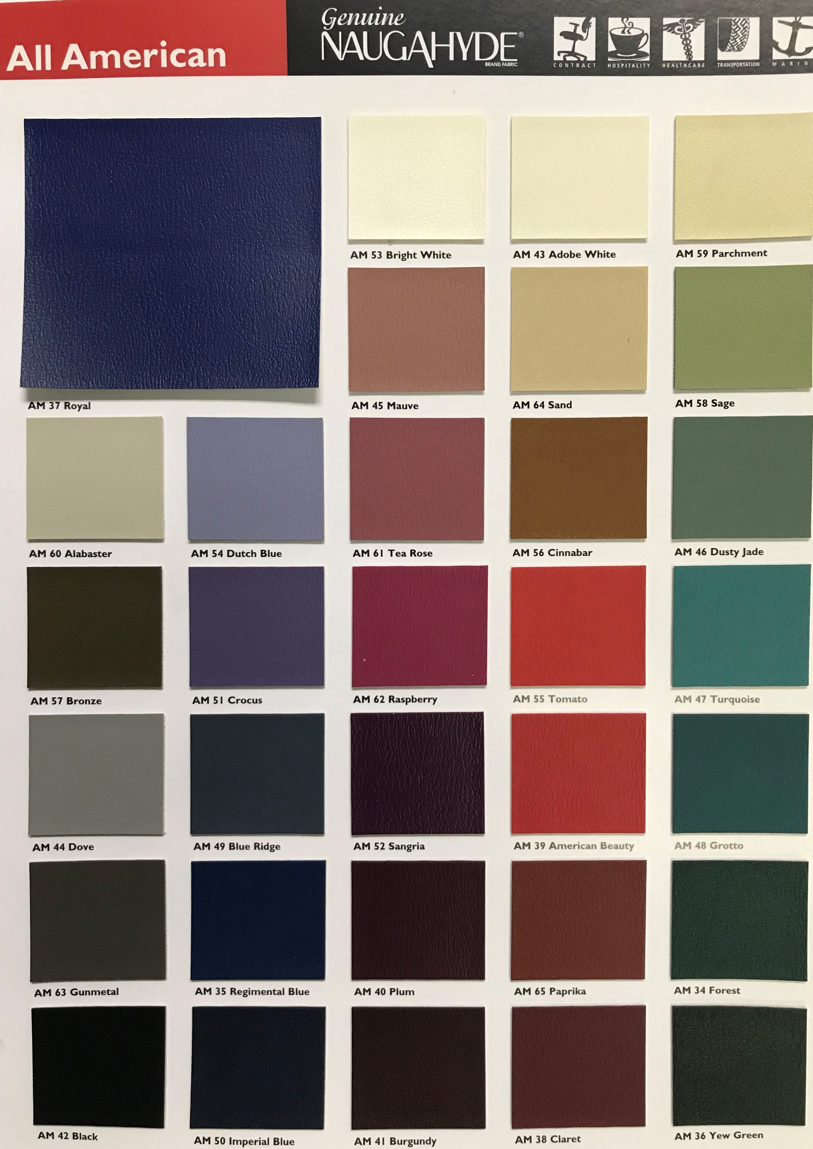All American Naugahyde Faux Leather Upholstery Vinyl