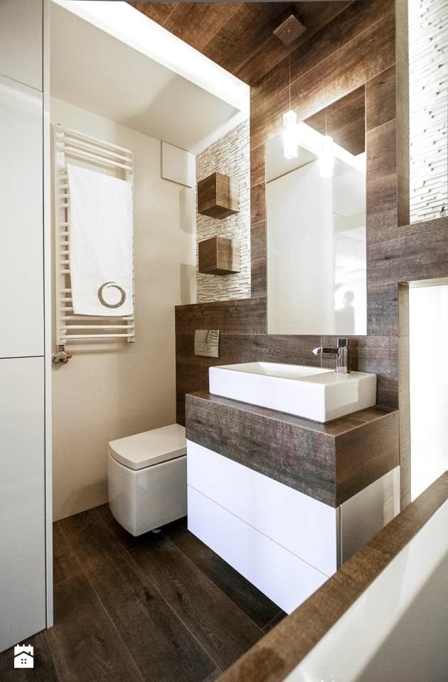 Inspirational nice concept wood tile floor up wall wall and as top for vanity Model - Latest wood tile bathroom ideas HD