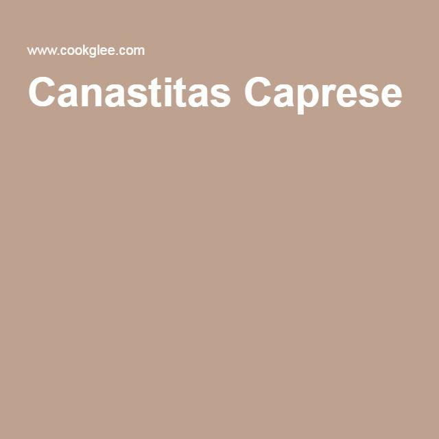 Canastitas Caprese