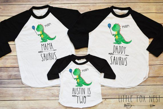 First Birthday Boy Dinosaur Shirt Toddler