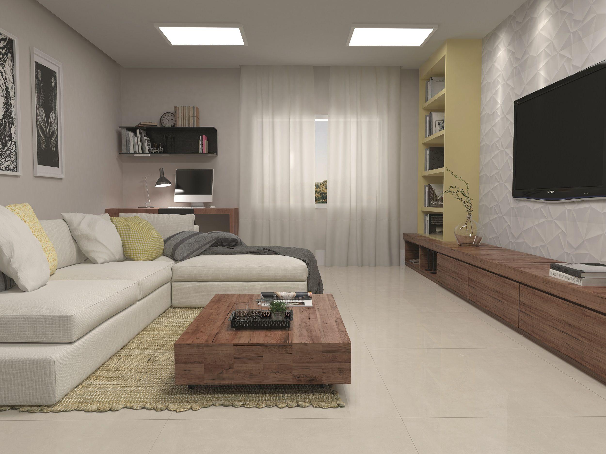 Cole O Downtown Sala Salas Rooms Produto Cer Mica Portinari  -> Painel De Sala Com Ceramica