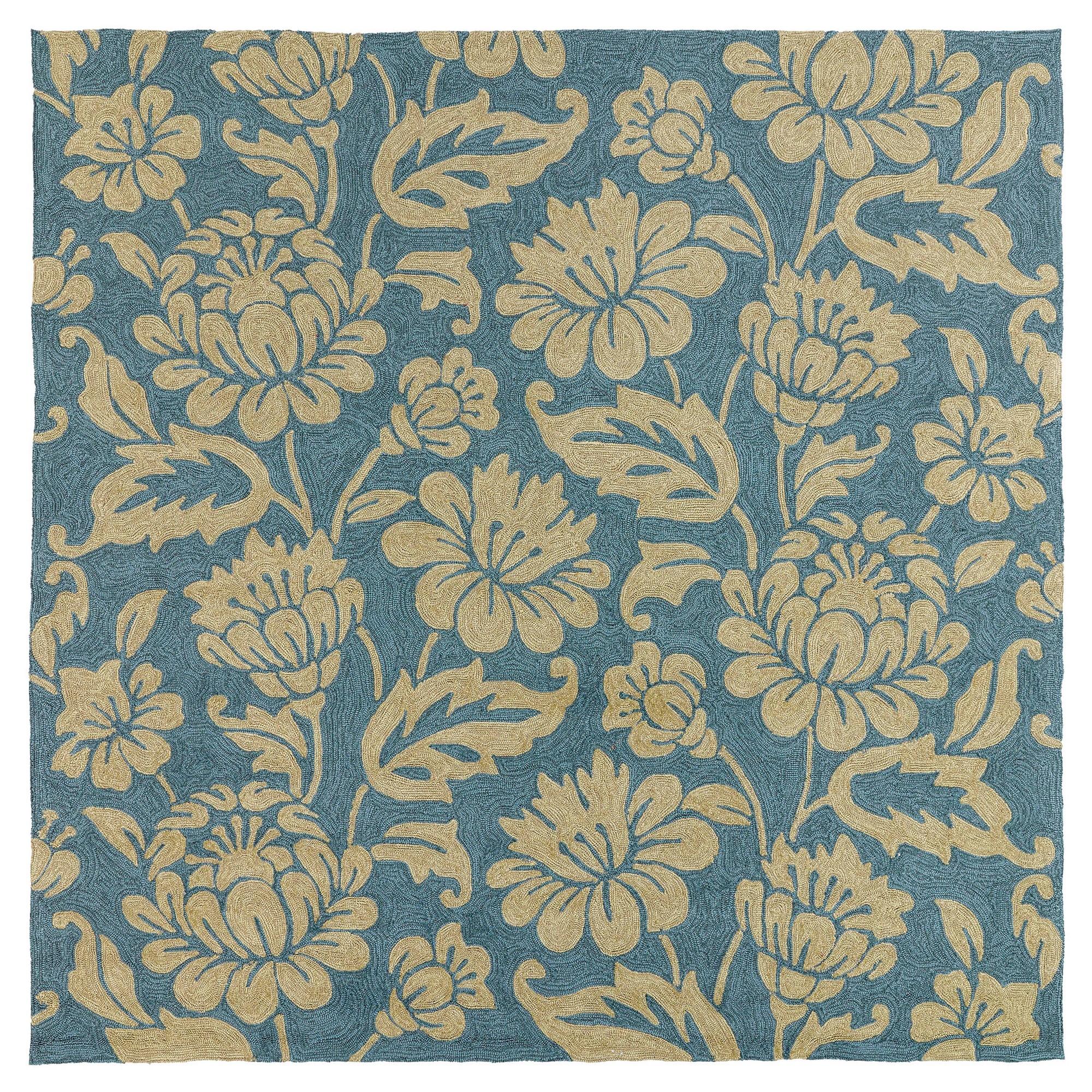 Rugs 6'X6' Kaleen Rugs Azure (Blue) Indoor outdoor area