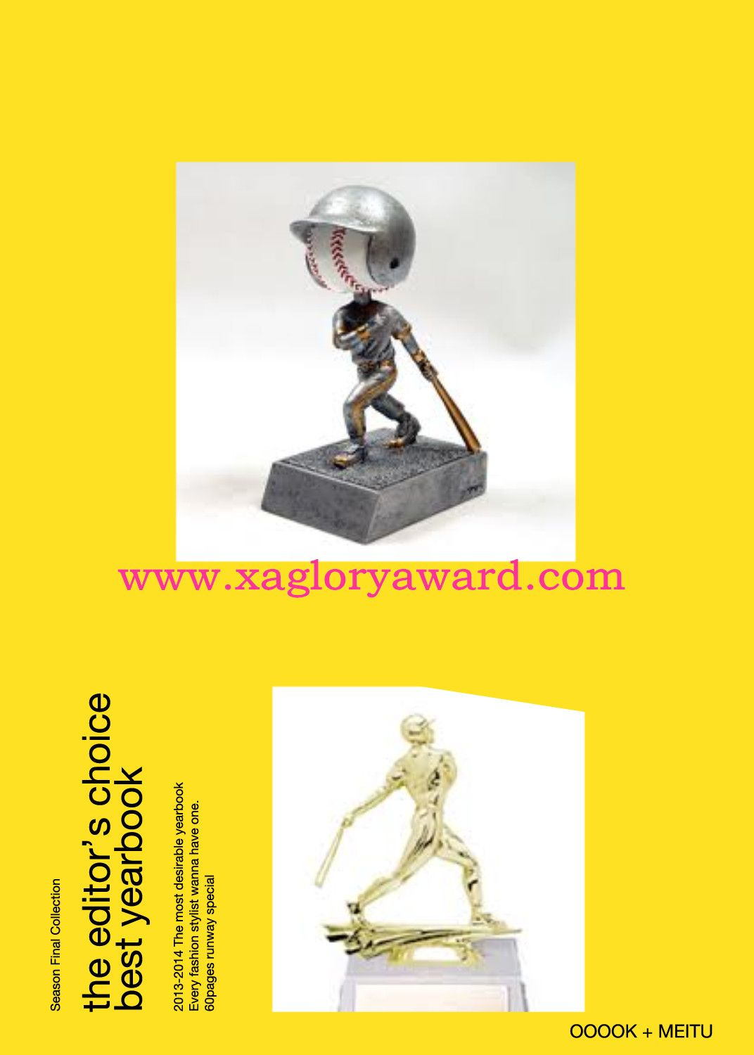 From here:www.xagloryaward.com. In fact, more and more football competitions begin to adopt Crystal Academy Award as an award.