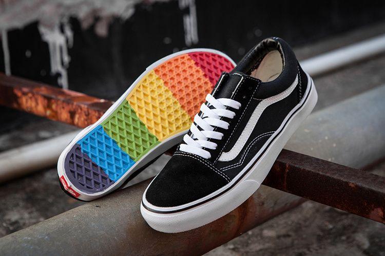 Vans Old Skool Rainbow at the end of