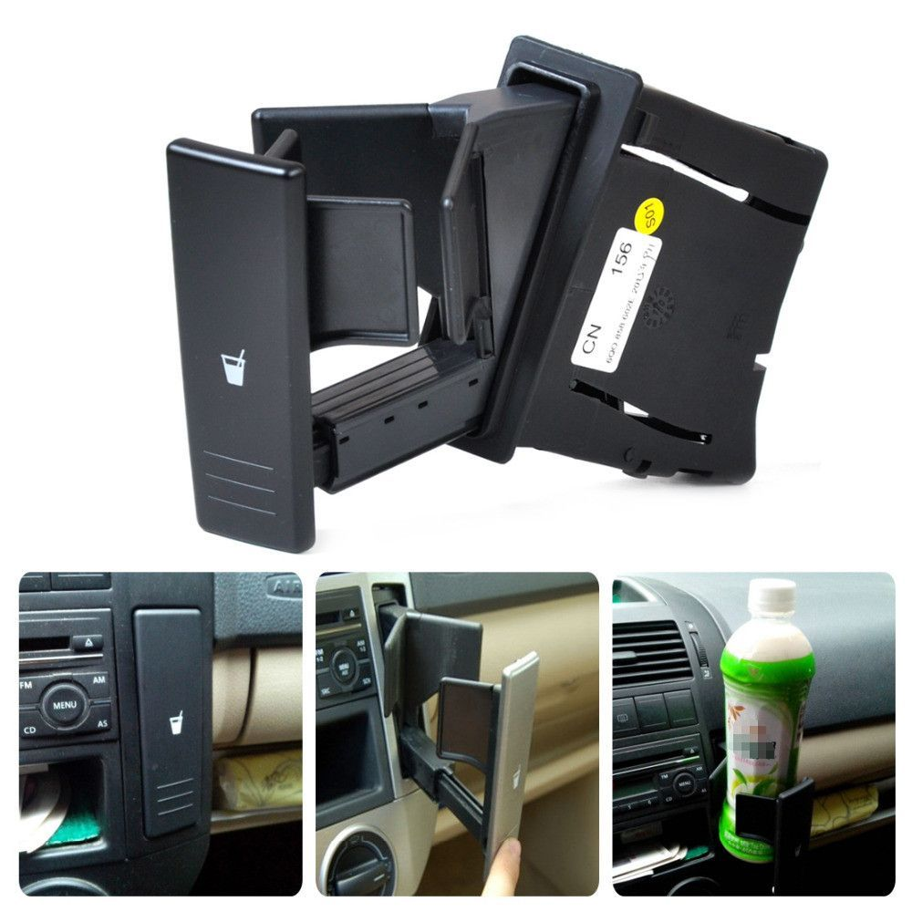 1Pc New Black Center Console Water Drink Cup Holder 6Q0