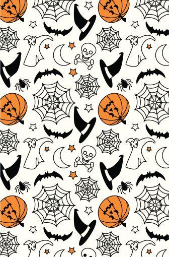 Halloween elements - jack 'o' lantern, witch's hat, skull &...