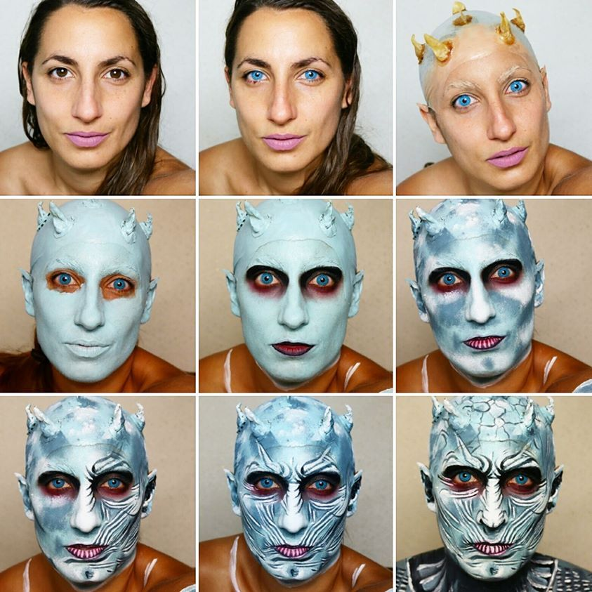 The Night King White Walker Step by Step Makeup Tutorial