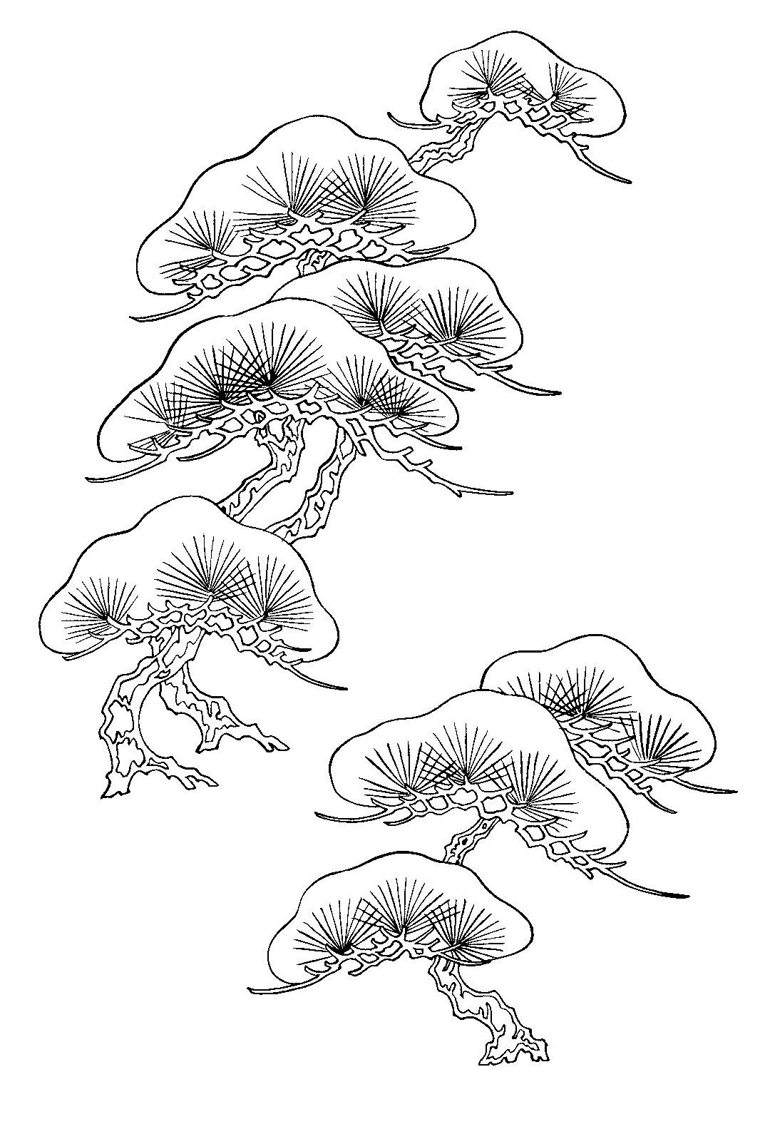 d8fee0d94 Japanese pine tree (matsu) design   Design in 2019   Japanese tree ...