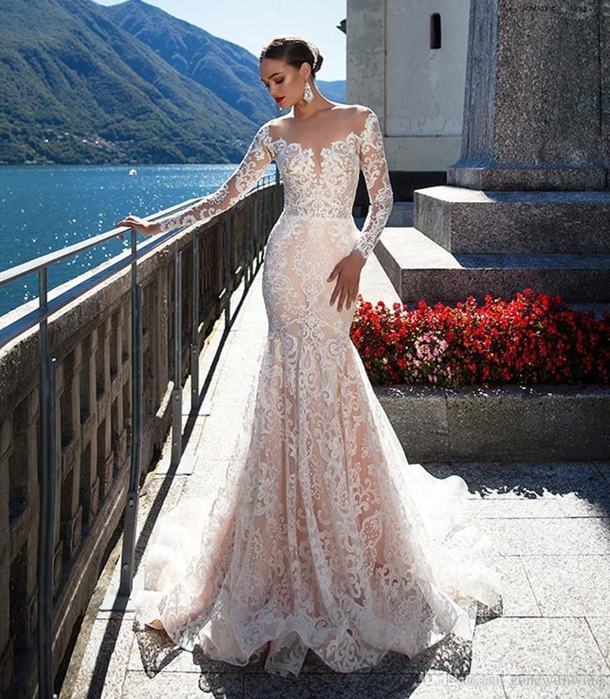 B The Item Does Not Include Any Accessories Such As Gloves Wedding Veil And The Crinoline Pe Wedding Dress Long Sleeve Chic Bridal Gown Wedding Dresses Lace [ 1000 x 872 Pixel ]