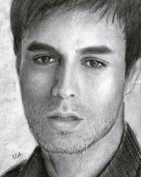 Pin By Omkar Pardeshi On Sketch Portrait In 2020 Enrique Iglesias Singer Songs