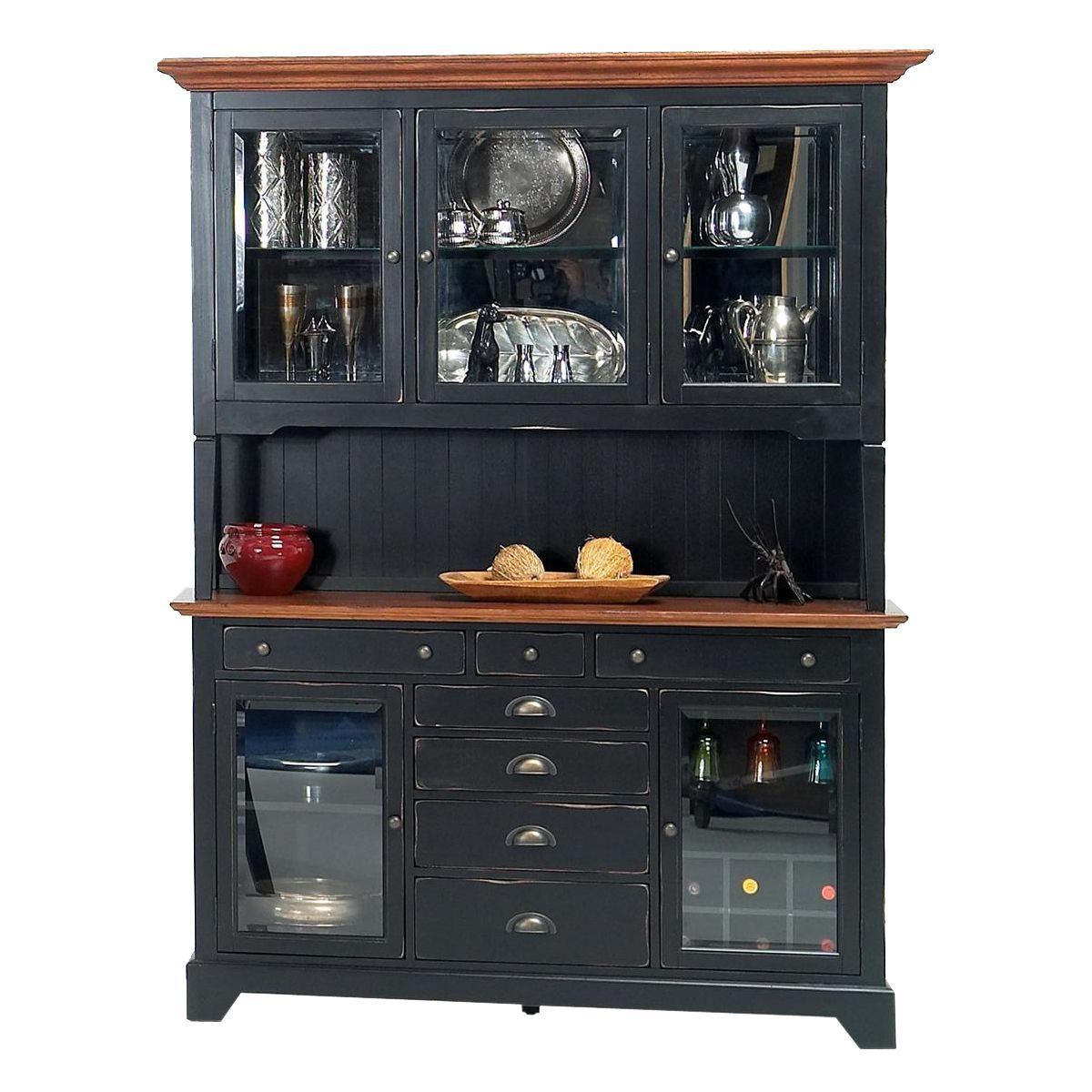 Buffet table furniture - Gs Furniture Two Piece Riverside Buffet Table With Hutch