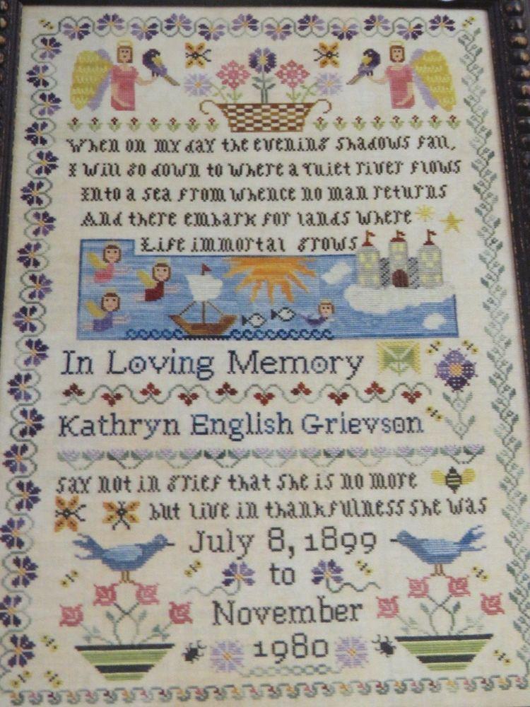 Pattern Cross Stitch Deborah Thorpe Midsummer Night In Memoriam