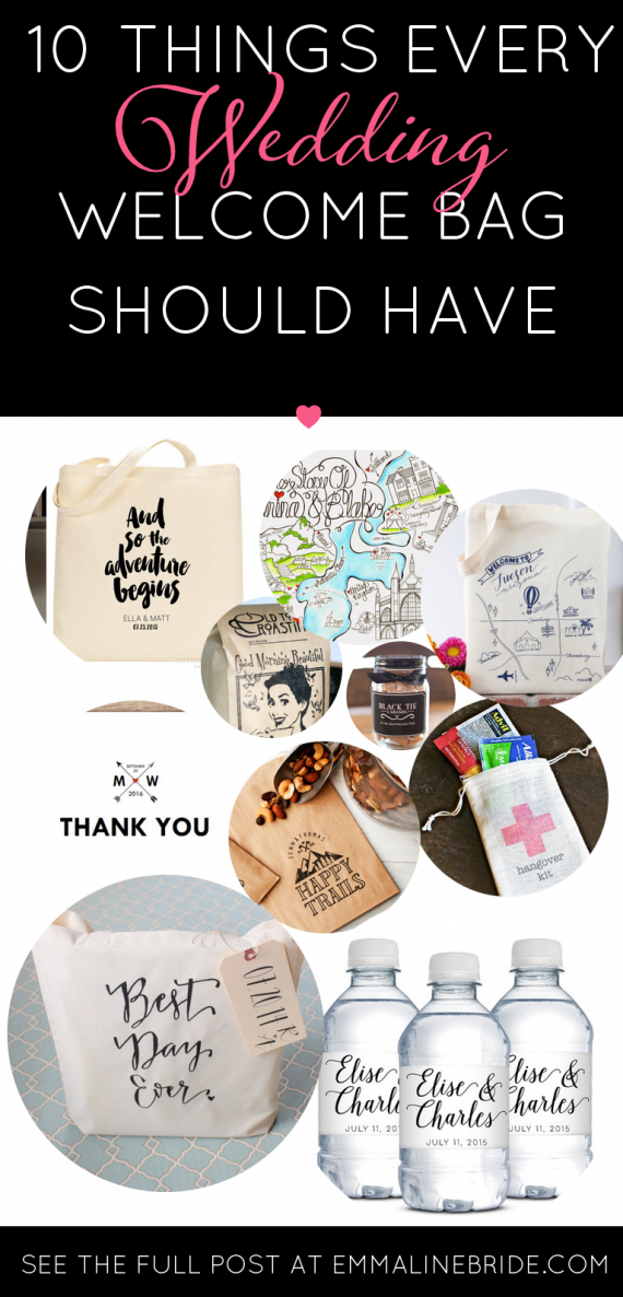10 things your wedding welcome bags need creative wedding