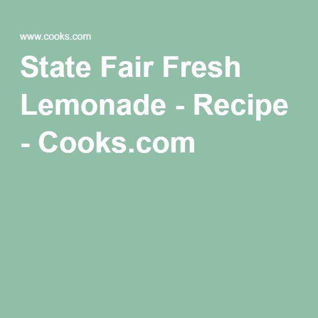 State Fair Fresh Lemonade - Recipe - Cooks.com