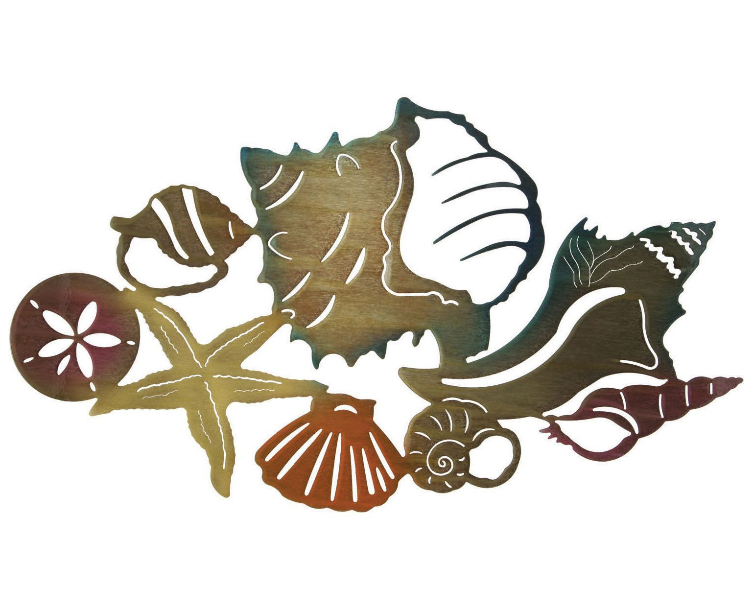 Seashell Treasures Metal Wall Art