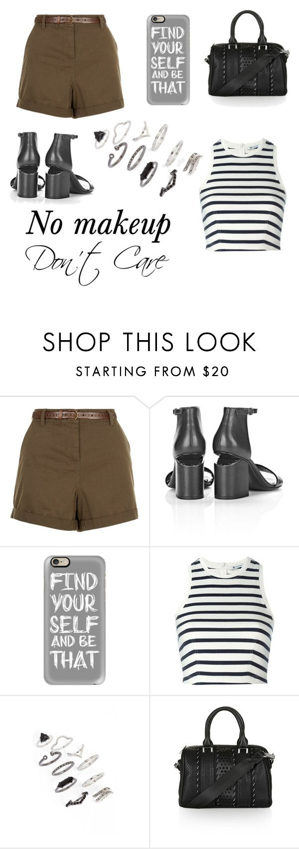 """Finding Myself"" by nineties-wallflower ❤ liked on Polyvore featuring New Look, Alexander Wang, Casetify, T By Alexander Wang, Topshop, StreetStyle, adventure, girlpower, stripedshirt and HappyCamper"