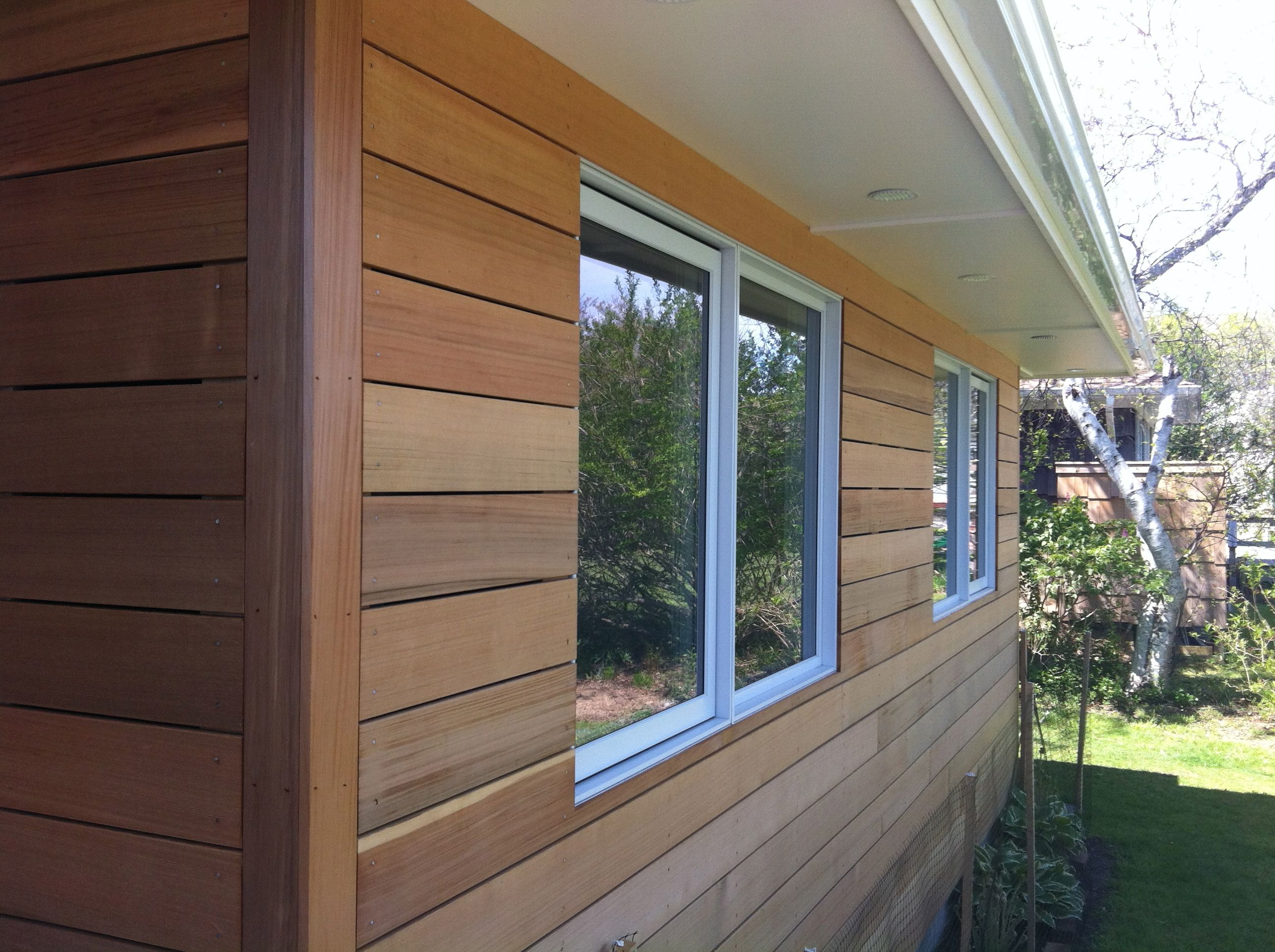 Corner with trim cedar siding patio in 2019 wood - What type of wood for exterior trim ...