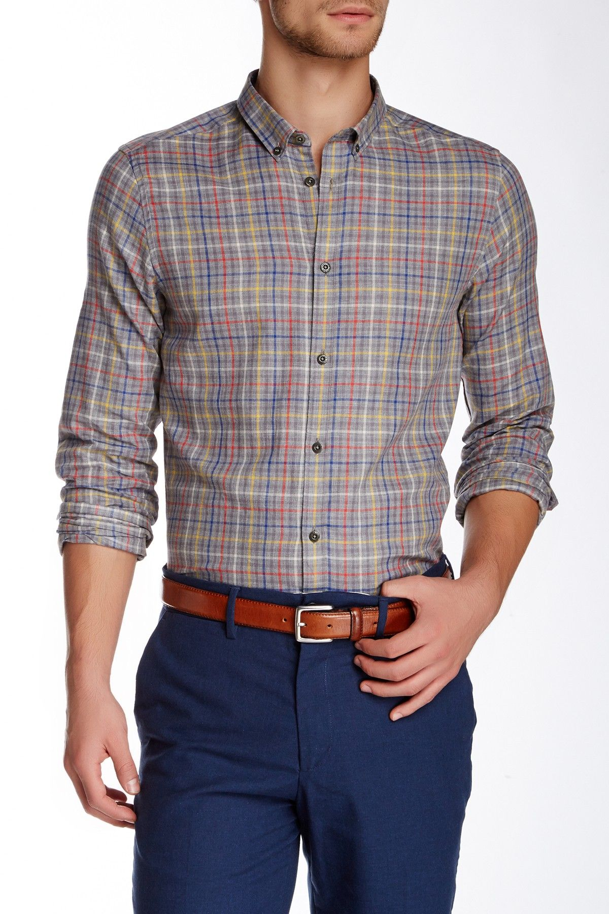 Flannel shirt with khaki pants  Ben Sherman  Long Sleeve Multi Colored Shirt  Multi coloured shirt