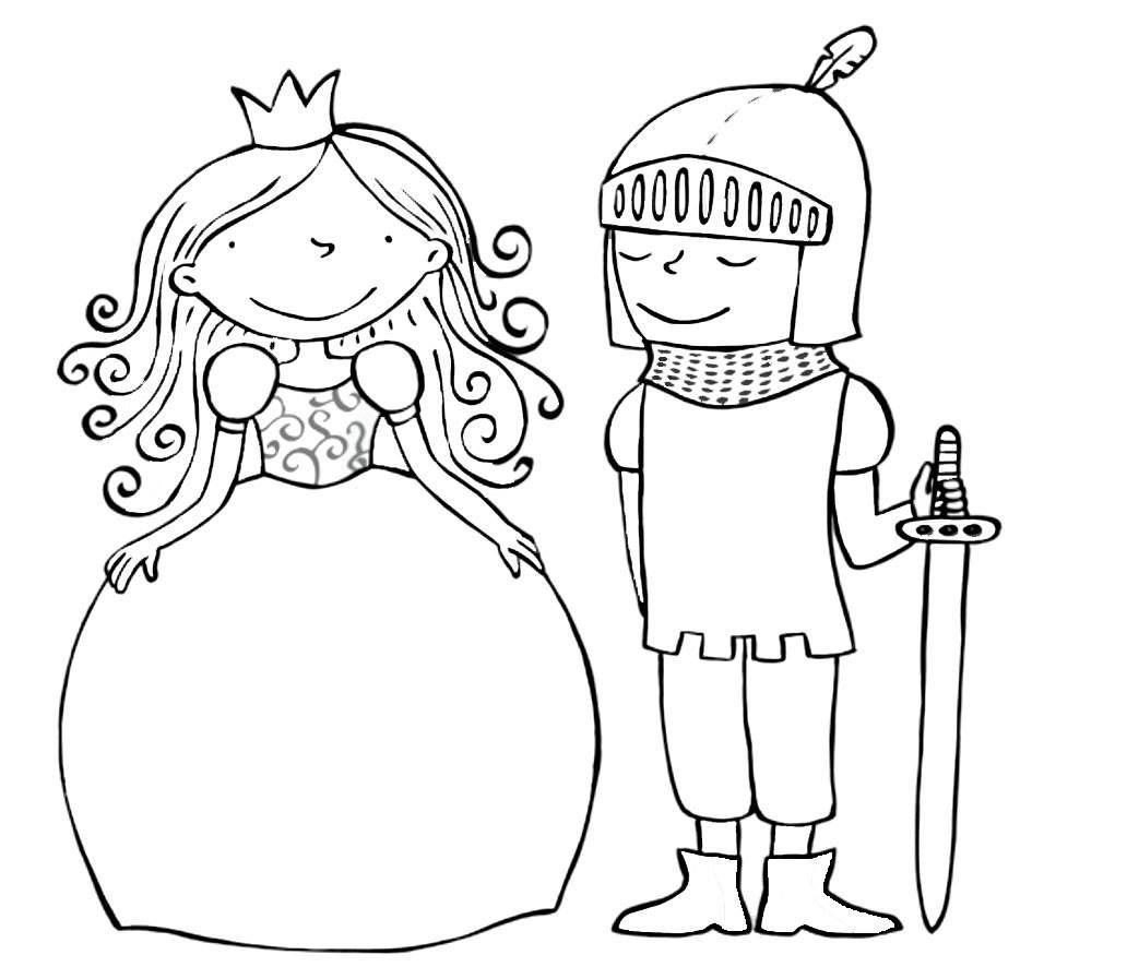 Kleurplaat Ridders En Jonkvrouwen Kleuters Ridders