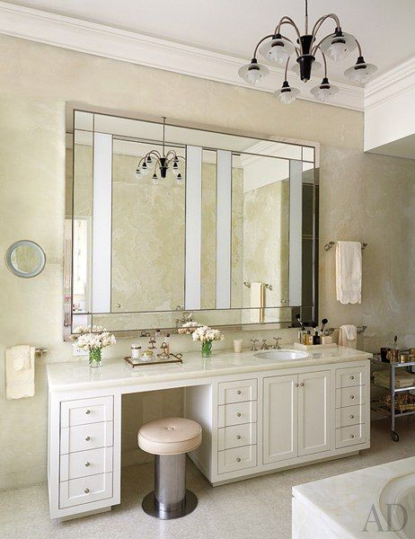 See How A Historic Manhattan Apartment Was Updated Without Losing Its Architectural Integrity Apartment Makeover Bathroom Remodel Master Built In Vanity