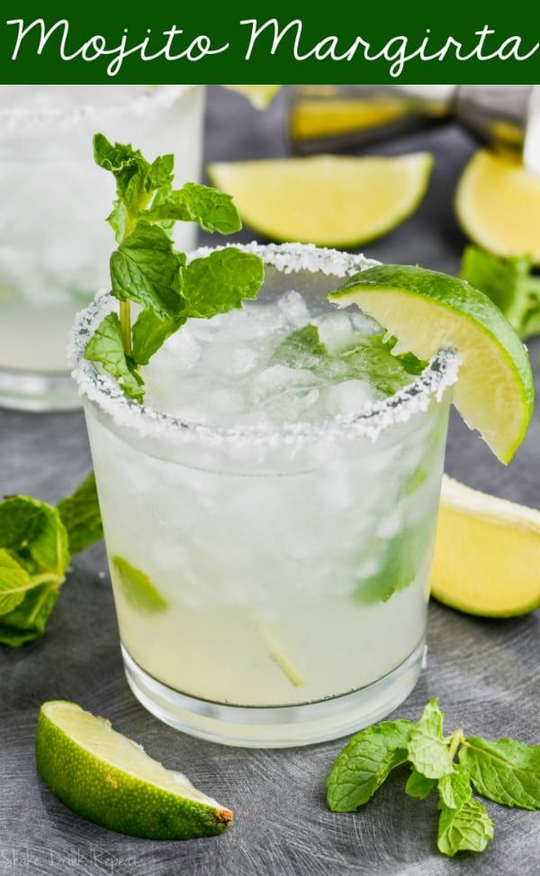 This Mojito Margarita is the mojito made with tequila you've been dreaming about your whole life or at least since you read the title of this post. #tequiladrinks