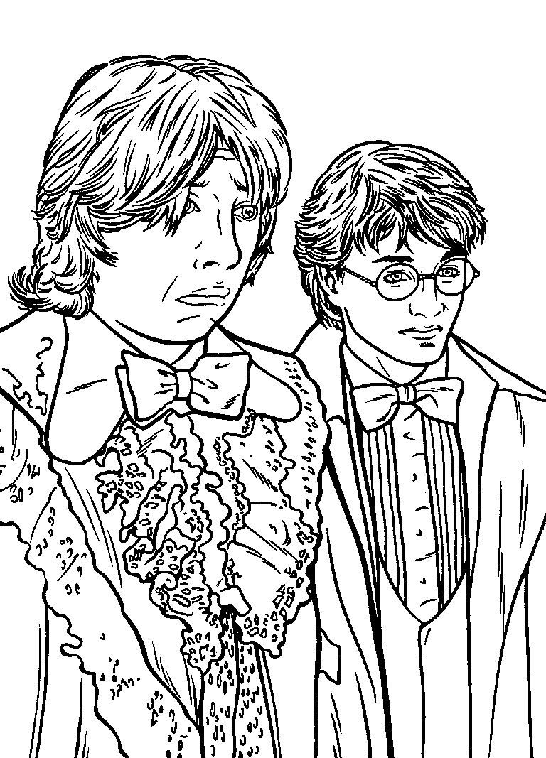 Harry Potter And Ron Weasley Harry Potter Coloring Pages Harry