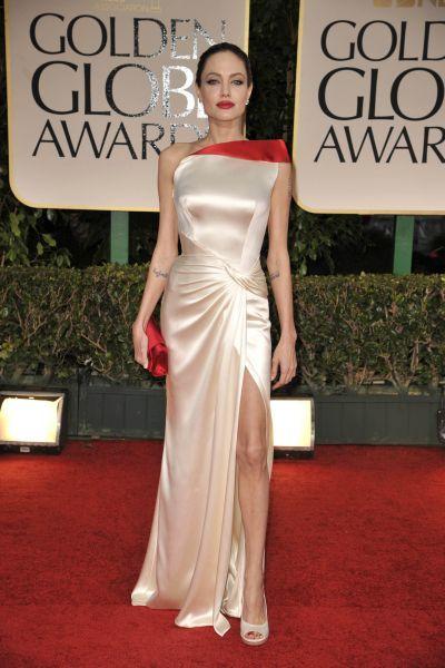 2012 En Vestidos De Globos Gala Los La Angelina Jolie Oro U58qwUg